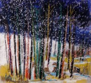 Winter Storm Pastels - Soft Snowfall by John  Williams