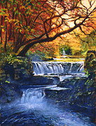 Vivid Colors Painting Posters - Soft Sounds of Water Poster by David Lloyd Glover
