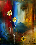Blue  Yellow Paintings - Soft Touch by Megan Duncanson