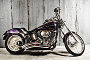 Captive Images Photography Posters - Softail Deuce Poster by John Kiss