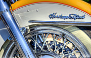 White Prints - Softail Print by Scott Norris
