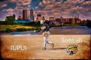 Softball Digital Art - Softball City by David PixelParable