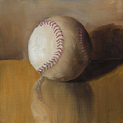 Stitching Paintings - Softball reflection by John Andrews