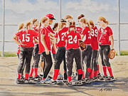 Andrea Timm Art - Softball Season by Andrea Timm