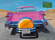 Pink Cadillac Prints - SoHapy Print by Lucretia Torva