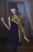 Scarves Painting Originals - Soho Hipster by Nanci France-Vaz