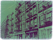 Beautiful Cities Digital Art Metal Prints - Soho New York Metal Print by Irina  March