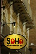 Soho Wine Bar Print by Jill Reger