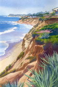 Bluff Posters - Solana Beach Ocean View Poster by Mary Helmreich