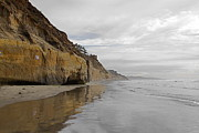 Sandstone Beach Framed Prints - Solana Beach Framed Print by Viktor Savchenko