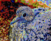 Mix Medium Mixed Media Prints - Solar Dove Print by Tam Ishmael - Eizman