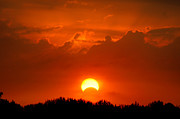 Clouds Of Fire Prints - Solar Eclipse Print by Bill Pevlor