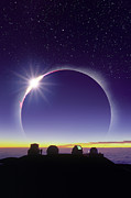 Mauna Kea Photos - Solar Eclipse by David Nunuk