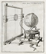 Earth Scientific Framed Prints - Solar Eclipse Predictor, 18th Century Framed Print by Middle Temple Library