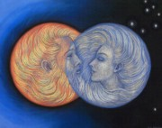 Couple Pastels Prints - Solar Eclipse Print by Sue Halstenberg