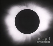Solar Eclipse Photo Framed Prints - Solar Eclipse With Outer Corona Framed Print by Science Source