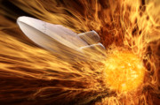 Spaceship Digital Art - Solar Flare by John Edwards
