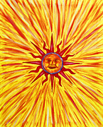 Flare Paintings - Solar Flare by Tessa Hunt-Woodland