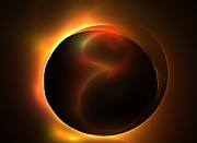 Solar Eclipse Digital Art - Solar Horizon by Kim Sy Ok