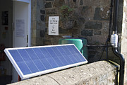 Solar Panel Prints - Solar Panel At The Eco Centre, Wales Print by Sheila Terry
