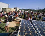 Entertaining Prints - Solar Panel Use Print by G. Brad Lewis