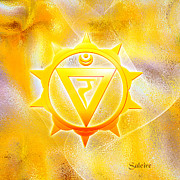 (zazzle) Digital Art - Solar Plexus Chakra by Saleires Art