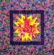 Sun Tapestries - Textiles Originals - Solar Power II by Maureen Wartski