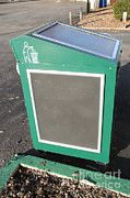 Efficiency Posters - Solar Powered Trash Compactor Poster by Photo Researchers, Inc.