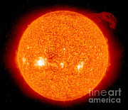 Observer Photo Metal Prints - Solar Prominence Metal Print by Nasa