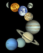 Neptune Photo Prints - Solar System Montage Print by Stocktrek Images
