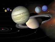 Large Scale Digital Art Prints - Solar System Print by Stocktrek Images