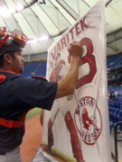 Boston Red Sox  Paintings - Sold   Varitek Signing The Original by Sports Art World Wide John Prince