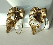 Earrings Jewelry - SOLD  Brass Ivy Earring by Robin Copper