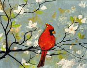 Cardinal Drawings Prints - SOLD Breaking a Cardinal Rule  Print by Amanda  Sanford