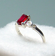 Band Jewelry Originals - SOLD Deep Red Ruby Ring by Robin Copper