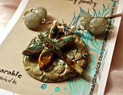 Necklace Ceramics - SOLD Drangonfly Duo Beaded Necklace by Amanda  Sanford