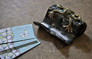 Signed Ceramics - SOLD Frog Business Card Holder by Amanda  Sanford