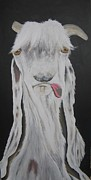Goat Painting Originals - SOLD-Gigantor Goat by Charlie Mumah