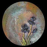 Red Flowers Ceramics - SOLD Iris Plate X Large by Amanda  Sanford