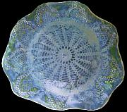 Lace Ceramics - SOLD Jade Plate by Amanda  Sanford