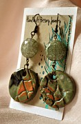 Long Necklace Ceramics - SOLD Jaded Earrings by Amanda  Sanford