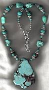 Buffalo Jewelry - SOLD  Mixed Turquoise Gaspeite and Magnesite necklace by White Buffalo