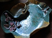Orchids Ceramics - SOLD Orchid Chip Dip Platter by Amanda  Sanford