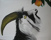 Goat Painting Originals - SOLD-The Hungry Goat original canvas by Charlie Mumah