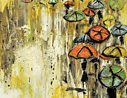 Umbrella Sculpture Prints - SOLD Under The Weather Print by Amanda  Sanford