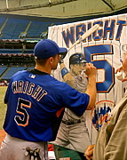 Mets Paintings - Sold.  Wright Signing The Original Painting by Sports Art World Wide John Prince