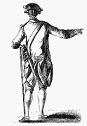 18th Century Prints - SOLDIER, 18th CENTURY Print by Granger