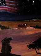 Soldier Paintings - Soldier and Wise Men on the first Christmas by Glenn Ledford