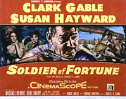 Soldier Of Fortune Framed Prints - Soldier Of Fortune, Clark Gable, Susan Framed Print by Everett