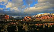 Sedona. Sunset Framed Prints - Soldier Pass Sunset Framed Print by Gary Kaylor
